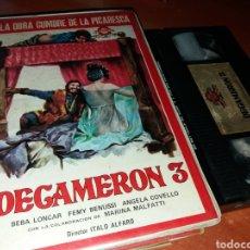 Cine: DECAMERON 3- VHS- DIR: ITALO ALFARO- LAS MÁS ATREVIDAS HISTORIAS DE BOCACCIO 1972. Lote 112932203