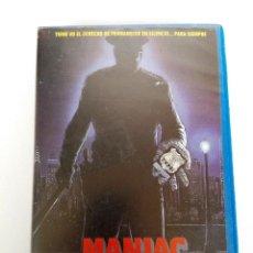 Cine: VHS - MANIAC COP - TOM ATKINS, BRUCE CAMPBELL - THRILLER, TERROR, ASESINOS EN SERIE. Lote 112937603