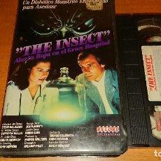 Cine: THE INSECT ALERTA ROJA EN EL GRAN HOSPITAL VHS. Lote 112940927