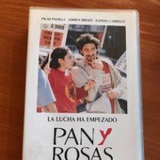 Cine: PAN Y ROSAS - VHS KEN LOACH. Lote 112956603