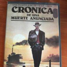 Cine: CRONICA DE UNA MUERTE ANUNCIADA - VHS. Lote 112956775