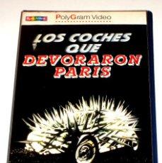 Cine: LOS COCHES QUE DEVORARON PARIS (1974) - PETER WEIR JOHN MEILLON TERRY CAMILLERI KEVIN MILES VHS. Lote 113123607