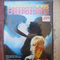 Cine: CREEPOZOIDES (1987) VHS - DAVID DECOTEAU LINNEA QUIGLEY.. Lote 113401223