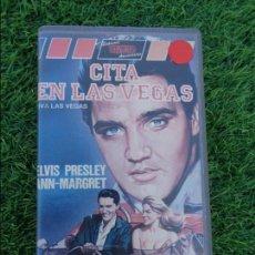 Cine: ELVIS PRESLEY - ANN MAGRET EN CITA EN LAS VEGAS - VHS - BUEN ESTADO. Lote 113412359