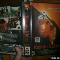 Cine: LOTE DE DOS PELICULAS VHS KARETE KID Y NINJA EN LA TRAMPA MORTAL. Lote 113483151