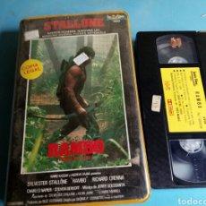 Cine: VHS- RAMBO,ACORRALADO PARTE 2, 1 EDICIÓN AÑO 1986. Lote 113914763
