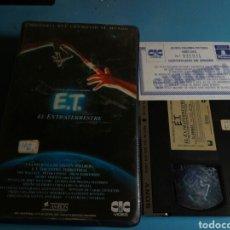 Cine: VHS- E.T.EL EXTRATERRESTRE, CON CERTIFICADO DE ORIGEN ,1 EDICIÓN AÑO 1982. Lote 113915371