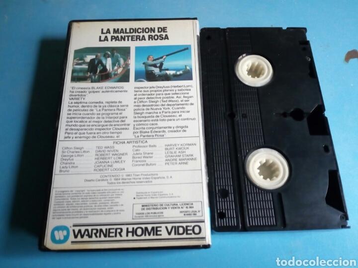 Cine: VHS- La Maldición de la Pantera Rosa, año 1984 - Foto 2 - 113916562