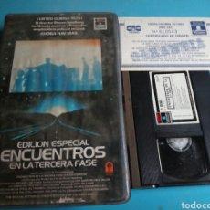 Cine: VHS- ENCUENTROS EN LA TERCERA FASE,EDICIÓN ESPECIAL (1977-1980)STEVEN SPIELBERG. Lote 173389520