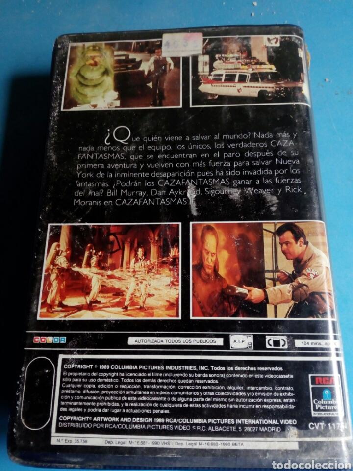 Cine: VHS- Cazafantasmas 2 ,1 edición año 1989 - Foto 5 - 114182214
