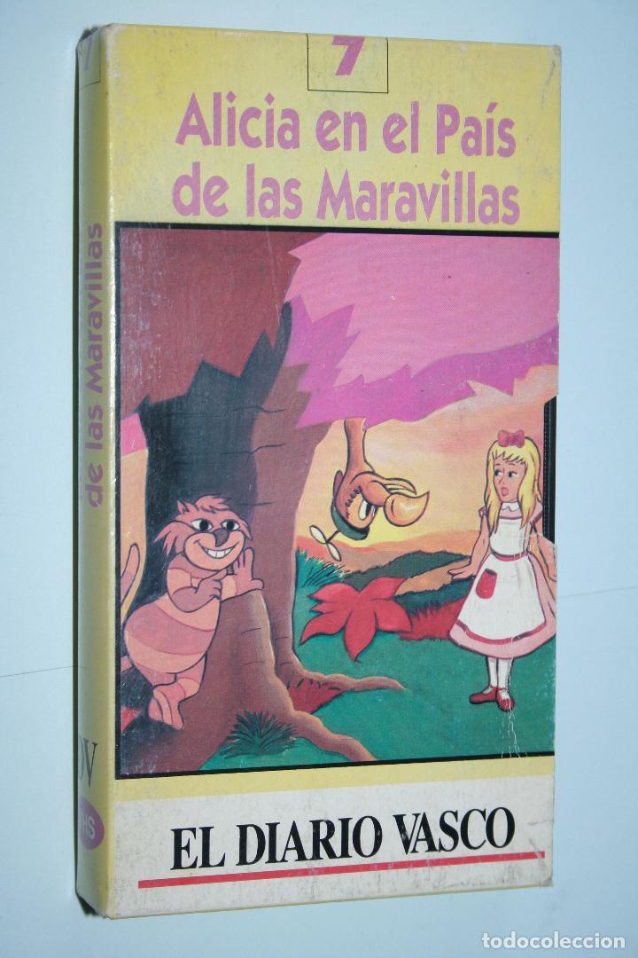 ALICIA EN PAIS DE LAS MARAVILLAS *** VHS INFANTIL *** BURBANK FILMS (1994) *** CARÁTULA DE CARTÓN (Cine - Películas - VHS)