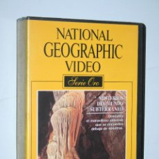 Cine: MISTERIOS DEL MUNDO SUBTERRANEO *** VHS NATIONAL GEOGRAPHIC *** TRIPICTURES VIDEO. Lote 114618747