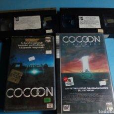 Cine: VHS- COCOON Y COCOON EL RETORNO ,1 EDICIÓN AÑOS1985 -88. Lote 173389607