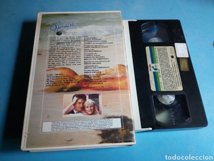 Cine: VHS- SPLASH ,Tom Hanks, 1 edición videoclub año 1985 - Foto 2 - 114814172
