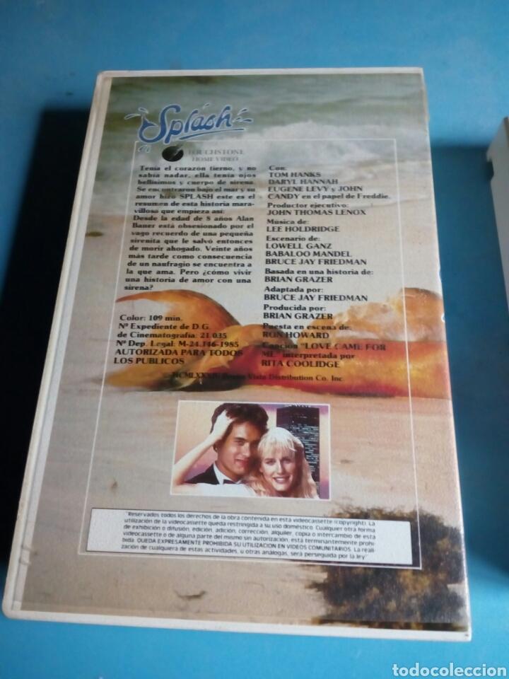 Cine: VHS- SPLASH ,Tom Hanks, 1 edición videoclub año 1985 - Foto 4 - 114814172