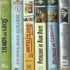 Cine: LOTE PELÍCULAS DE LOS HERMANOS MARX (VHS) SE PUEDE VENDER POR SEPARADO. Lote 115331779