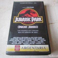 Cine: JURASSIC PARK (PARQUE JURASICO ) VHS - 1994 - ARGENTARIA. Lote 115433359