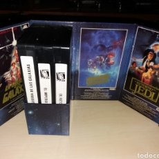 Cine: VHS - TRILOGÍA STAR WARS. Lote 115532623