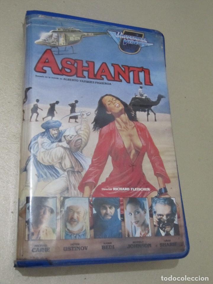 VHS VIDEO ASHANTI EBANO RICHARD FLEISCHER MICHAEL CAINE PETER USTINOV OMAR SHARIF REX HARRISON, WI (Cine - Películas - VHS)