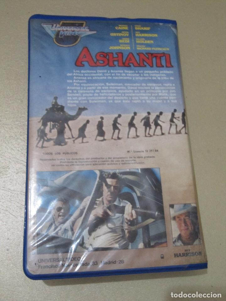 Cine: VHS VIDEO ASHANTI EBANO Richard Fleischer Michael Caine Peter Ustinov Omar Sharif Rex Harrison, Wi - Foto 2 - 115545131