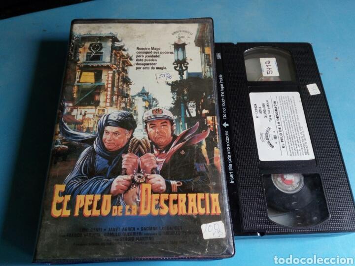 VHS- EL PELO DE LA DESGRACIA,1 EDICIÓN ORIGINAL VIDEOCLUB AÑO 1987.MUY RARA (Cine - Películas - VHS)