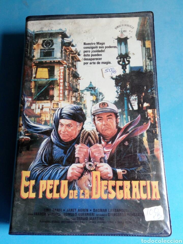 Cine: VHS- El pelo de la desgracia,1 edición original videoclub año 1987.muy rara - Foto 4 - 115699390