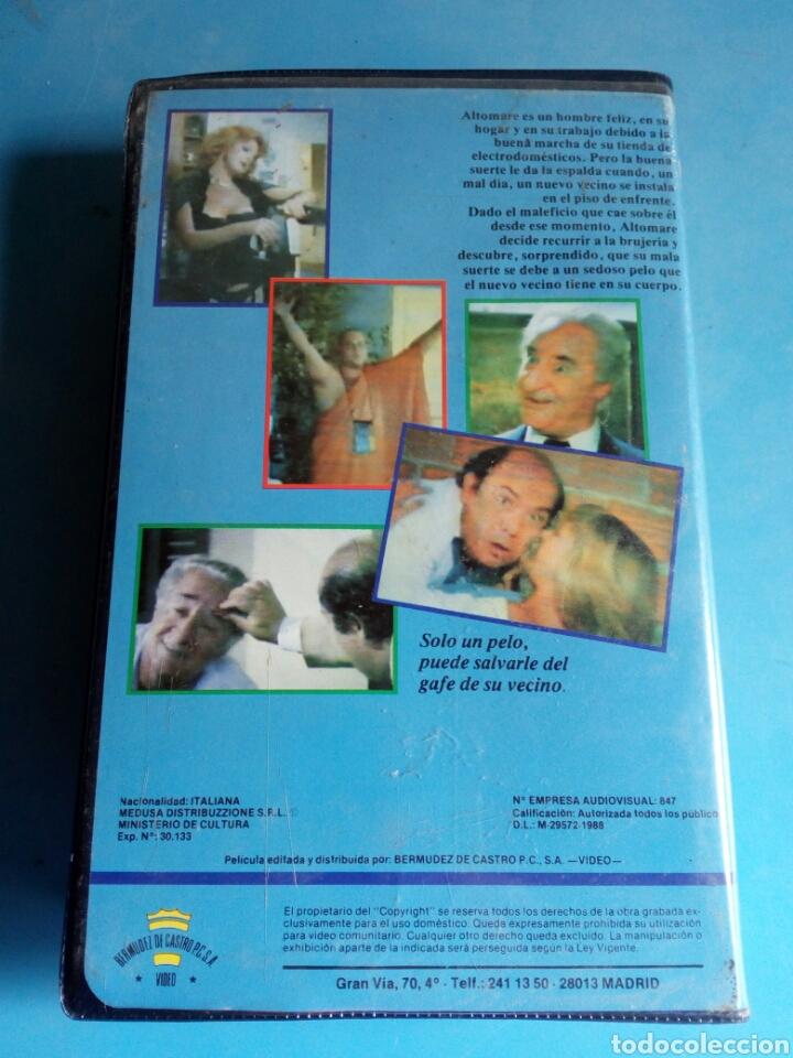 Cine: VHS- El pelo de la desgracia,1 edición original videoclub año 1987.muy rara - Foto 5 - 115699390