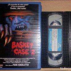Cine: VHS • BASKET CASE 2: MIRA QUIÉN HA VUELTO (1990) D: FRANK HENENLOTTER [FILMAX VIDEO - TERROR]. Lote 115873843