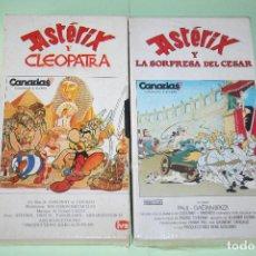 Cine: ASTERIX *** LOTE 2 VHS DIBUJOS ANIMADOS *** FUNDA CARTÓN ***. Lote 116437331