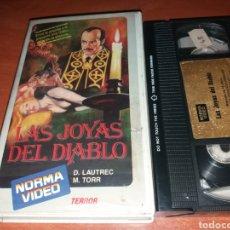 Cine: LAS JOYAS DEL DIABLO- VHS- EL SECRETO DEL TOISON DE ORO- TERROR. Lote 116876424