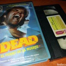 Cine: DEAD- EL PERRO DE LA MUERTE- VHS- 1983- TERROR- USA- DIR: PETER WITTMAN. Lote 117012275