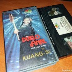 Cine: DUELO FINAL (THE FINAL DUEL)- VHS- MALIBU VIDEO- HKTVB INTERNATIONAL- ARTES MARCIALES. Lote 117027022