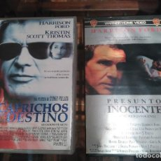 Cine: LOTE 2 PELICULAS VHS HARRISON FORD. Lote 117163179