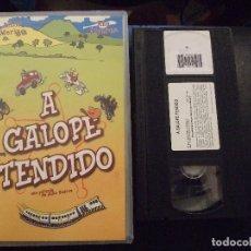 Cine: A GALOPE TENDIDO - JULIO SUAREZ - AITOR MERINO , ANA ALVAREZ - TESELA 2000. Lote 117235031
