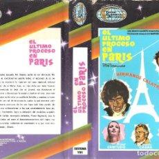 Cine: EL ULTIMO PROCESO EN PARIS - 1974 - HERMANOS CALATRAVA - Mª JOSE CANTUDO - ANTONIO CASAS - . Lote 117835847