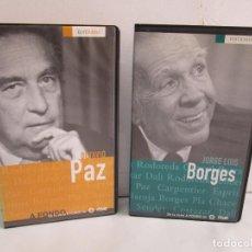 Cine: EDITRAMA. OCTAVIO PAZ. JORGE LUIS BORGES. DE LA SERIE A FONDO. RTVE. 2 VHS. VER FOTOS. Lote 117959859