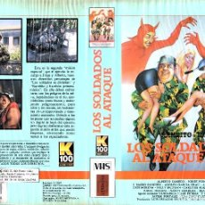 Cine: VHS - LOS SOLDADOS AL ATAQUE - ALBERTO OLMEDO, JORGE PORCEL - COMEDIA ARGENTINA. Lote 139011936