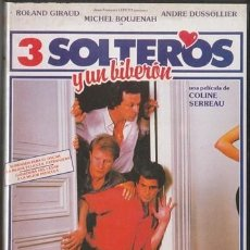 Cine: PELICULA - 3 SOLTEROS Y UN BIBERON - FILM DE COLINE SERREAU - COMEDIA - CINTA VIDEO - . Lote 118408199