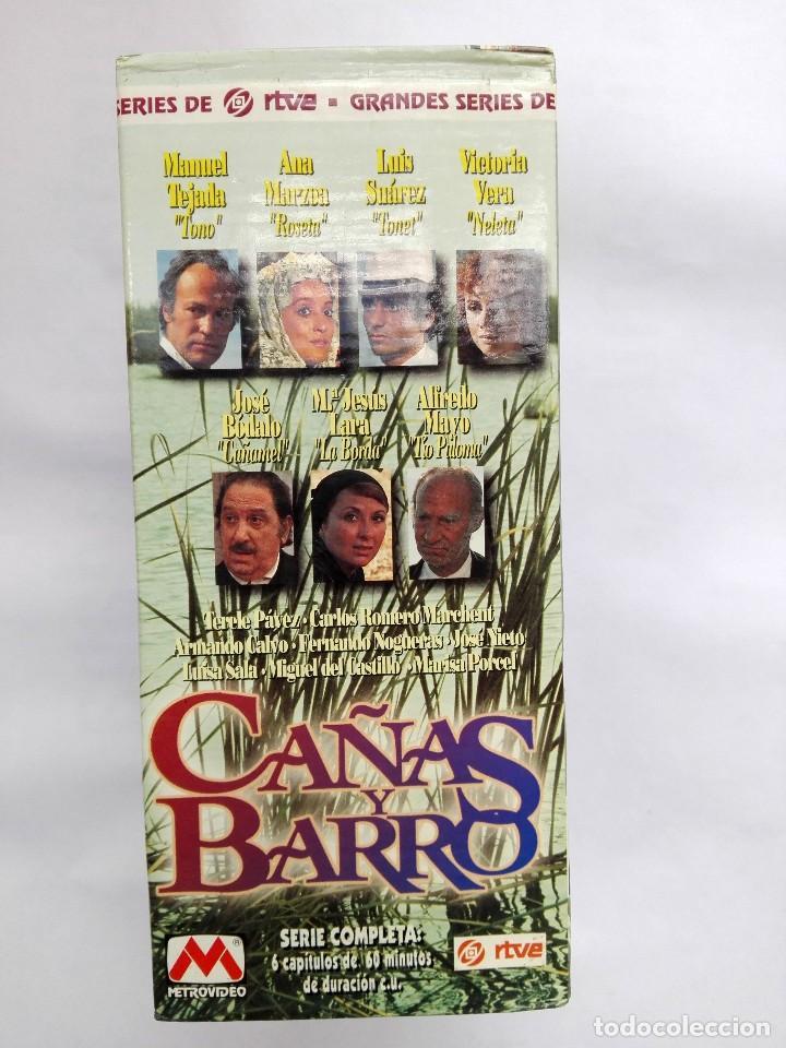 VHS - MINI SERIE COMPLETA - CAÑAS Y BARRO - JOSÉ BÓDALO, VICTORIA VERA, RAFAEL ROMERO MARCHENT (Cine - Películas - VHS)