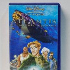 Cine: WALT DISNEY.ATLANTIS .EL IMPERIO PERDIDO.CINE EN VHS AÑO 2001. Lote 118678235