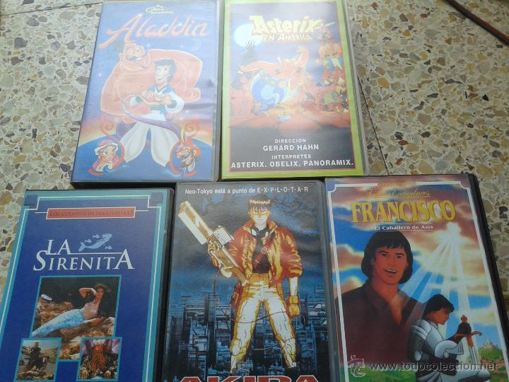 LOTE AKIRA ALADIN ASTERIX SIRENITA NUEVAS (Cine - Películas - VHS)