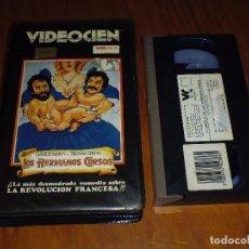 Cine: LOS HERMANOS CORSOS . CHEECK Y CHONG . COMEDIA - VHS. Lote 119920007