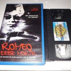 Cine: VHS- ROMEO DEBE MORIR- JET LI AALIYAH. Lote 178863745
