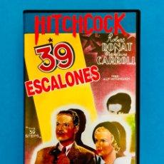 Cine: 39 ESCALONES (1935) VHS - ALFRED HITCHCOCK - ROBERT DONAT. Lote 120778284