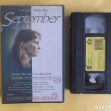 Cine: SEPTEMBER - WOODY ALLEN CINE VIDEO VHS. Lote 121081323