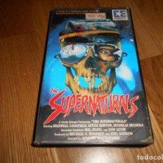 Cine: VHS THE SUPERNATURALS - ARMAND MASTROIANNI - ZOMBIEMANIA 1987 . Lote 121611035
