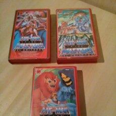 Cine: HE-MAN Y LOS MASTERS DEL UNIVERSO. LOTE 3 VHS.. Lote 121737254