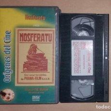 Cine: VHS • NOSFERATU (1922) F.W. MURNAU - MAX SCHRECK [DIVISA - TERROR]. Lote 122192347