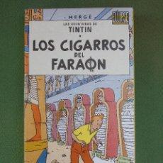 Cine: CINTA VHS. LOS CIGARROS DEL FARAÓN. LAS AVENTURAS DE TINTIN. HERGÉ. EDICIÓN DIARIO DE BURGOS.. Lote 122470451