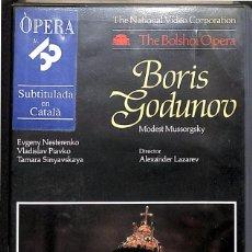 Cine: VHS OPERA BORIS GODUNOV - THE BOLSHOI OPERA. Lote 122625871